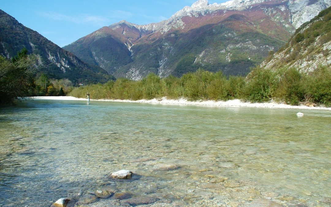Fly Fishing on the Soca river in September and October.