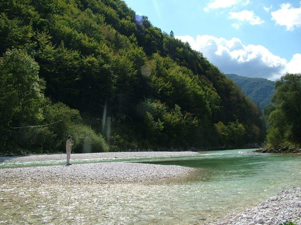 Autumn on the Soca river